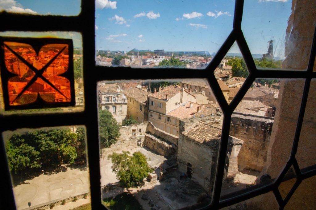 Vista dalla finestra del palazzo dei papi di Avignone