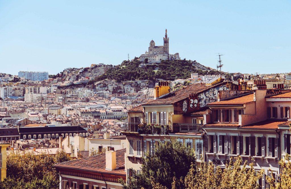 Vista panoramica di Marsiglia