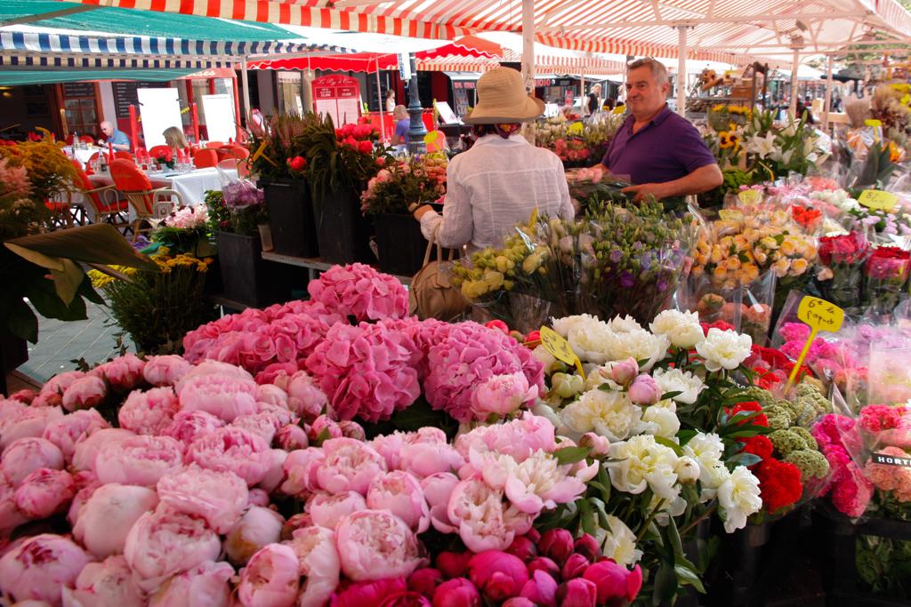 Marché aux fleurs di Nizza sulla costa azzurra